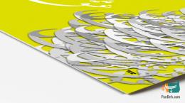 Love Calligraphy in Lemon-Yellow تابلو عشق با پس زمینه سبز-زرد